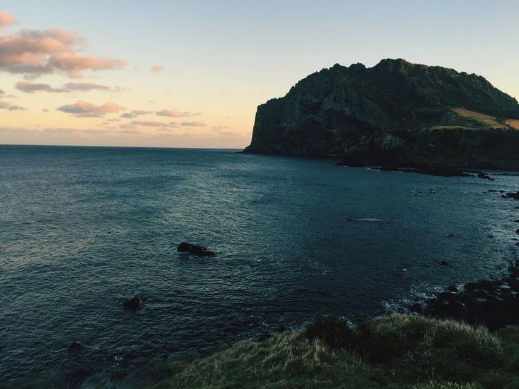 Sea Beauty In Nature Sky Sunset Water Day Beach JEJU ISLAND