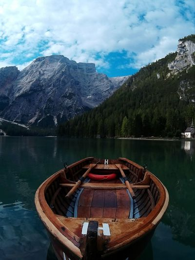 Mountain Nautical Vessel Tranquil Scene Mountain Range Transportation Nature Cloud Travel Destinations Day Non-urban Scene Braies Lake Braies Lake Eyemcaptured Nature Photography Eyemphotography EyeEm Best Shots Nature_collection Eyem Best Shot - My World EyeEmBestPics Eye4photography  Dettails  Perpective EyeEm Gallery Visititalia_da_scoprire