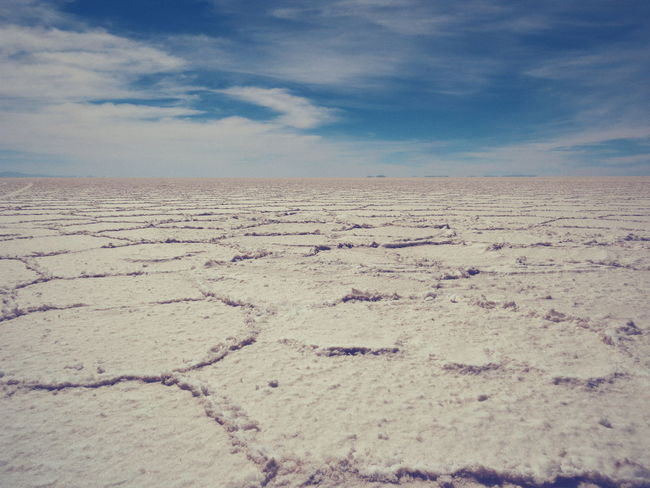 Salt Flats Bolivia Uyuni Bolivia Salar De Uyuni Southamerica Travel Travel Photography Barren Landscape Hexagon Hexagonal Landscapes With WhiteWall Landscapes