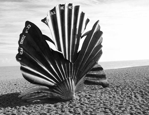 Aldeburgh Scallop Modern Art Sculpture By The Sea Benjamin Britten Scallop On The Beach Beach Maggi Hambling Aldeburgh