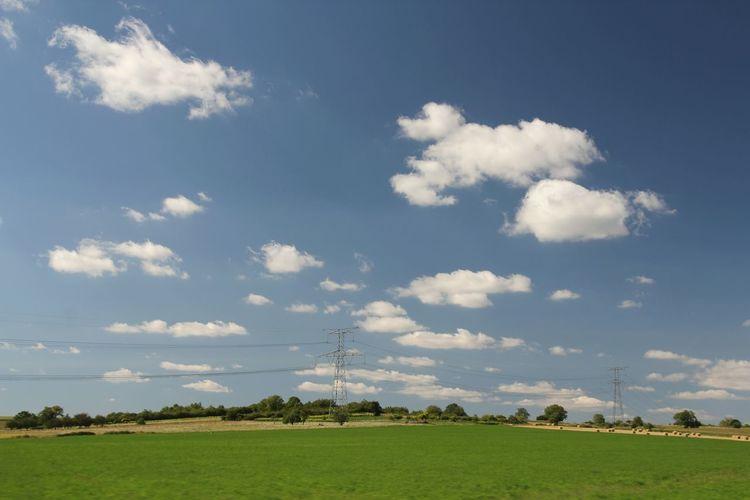 Landscape_photography EyeEm Best Shots - Landscape Auvergne EyeEm Best Shots CestBeauLAuvergne Landscape_Collection Landscape Pylons Pylons And Power Lines Blue Sky