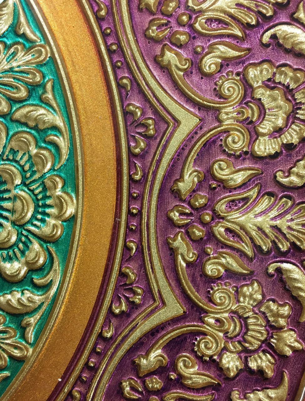 ornate, design, pattern, full frame, religion, indoors, no people, gold colored, backgrounds, multi colored, architecture, close-up, day