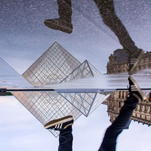 Puddleography Pyramide Du Louvre Streetphotography Sky_collection