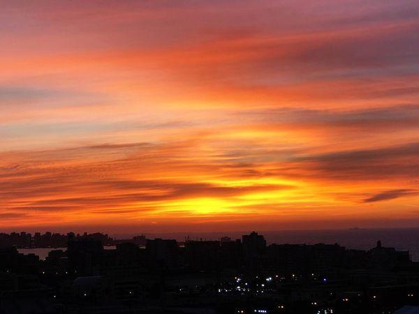 Sky Architecture Sunset Cloud - Sky City Cityscape Go Higher Orange Color Landscape Romantic Sky Beauty In Nature