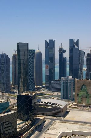 My first pic of doha, i spent there so long of my life in the 6 years. I know there very well and i refuse the idea that Qatar support terrorists. Qatar has invested so much money all over the western countries that i refuse such idea, it is unbelievable and pratically out of logic and reality. Maybe Gulf countries must give something to Trump to make him happy Architecture Skyscraper Building Exterior Modern Urban Skyline City Cityscape Built Structure Downtown District Day Outdoors Clear Sky No People Sky Doha,Qatar DohaCity❤ Doha_photography Doha Skyline DohaCity❤ DohaCity❤ Dohaqatar Qatar Qatarphoto1 Qatar , Qatar