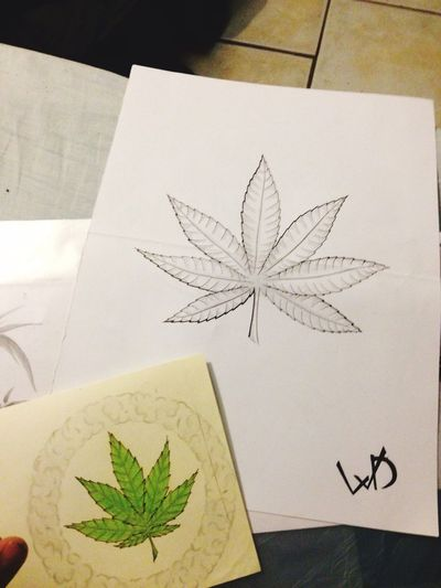 Weed smoke drawings