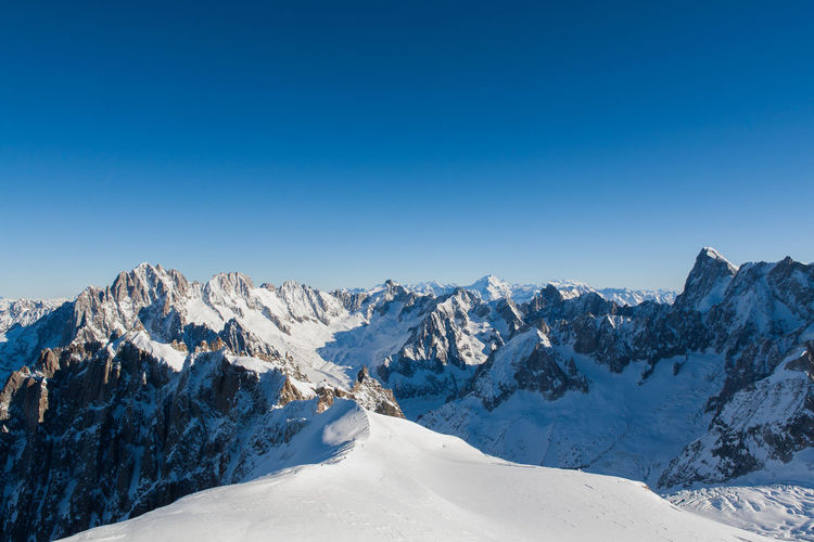Alps view from Aiguille du Midi Alpes AlpesFrancaises Alps Beauty In Nature Chamonix Chamonix-Mont-Blanc Cold Temperature Landscape Mont Blanc Mountain Mountain Range Non-urban Scene Scenics Season  Snow Snowcapped Mountain Tranquil Scene Tranquility Weather Winter