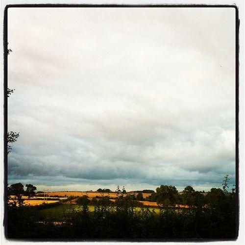 The sky is beginning to bruise... #morningjogwalk Morningjogwalk