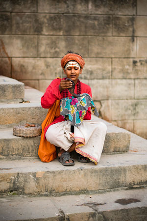 Colors India India Style Indian Culture  Life Love Nikon Snake TravelStories Day Full Length India Love Indianstories Indiapictures Looking At Camera Nikonphotography People Photography Real People Religion Sitting Steps Travelphotography Travelshots Varanasi