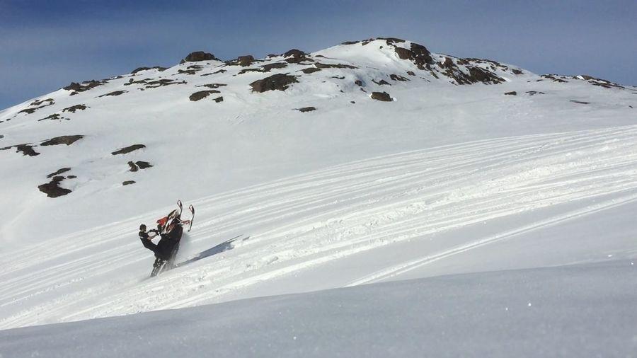 Spring2015 Wheelie Snowmobile Riding Enjoying Life That's Me Snowmountain My Hobby