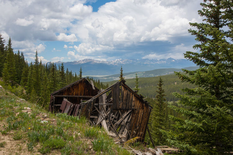 Jun 2018 - Leadvile, Colorado gold mining district 19th Century Buildings Rocky Mountains USA Architecture Beauty In Nature Built Structure Cabin Cloud - Sky Day Environment Forest Land Landscape Leadville,co Mountain Nature No People Non-urban Scene Outdoors Plant Ruin Scenics - Nature Sky Tranquility Tree Wood - Material