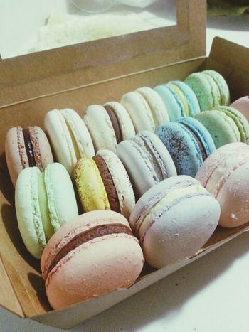 Colours Macarons Dessert Sweetnessoverload