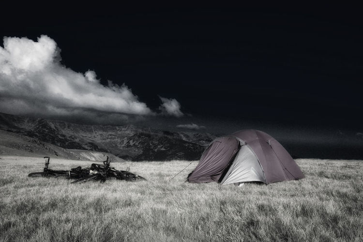 Camping Life Camping Out Freedom Lifestyle Beauty In Nature Camping Trip Campinglife Day Grass Landscape Nature No People Outdoors Scenics Sky Tent Tranquil Scene Tranquility Transalpina
