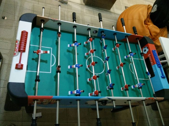 Beanbag Day Foosball Foosball Table Indoor Sports No People Office Hours Play Time