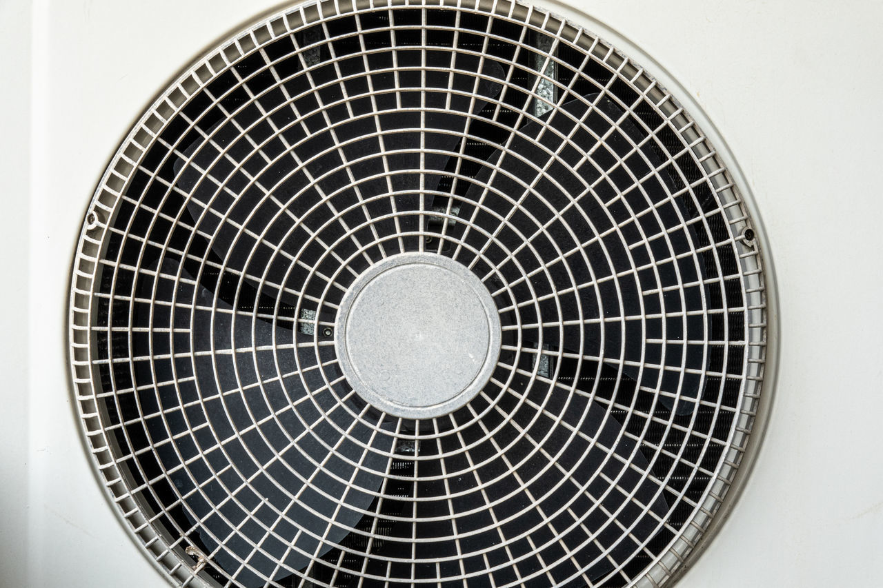 LOW ANGLE VIEW OF ELECTRIC FAN IN CEILING