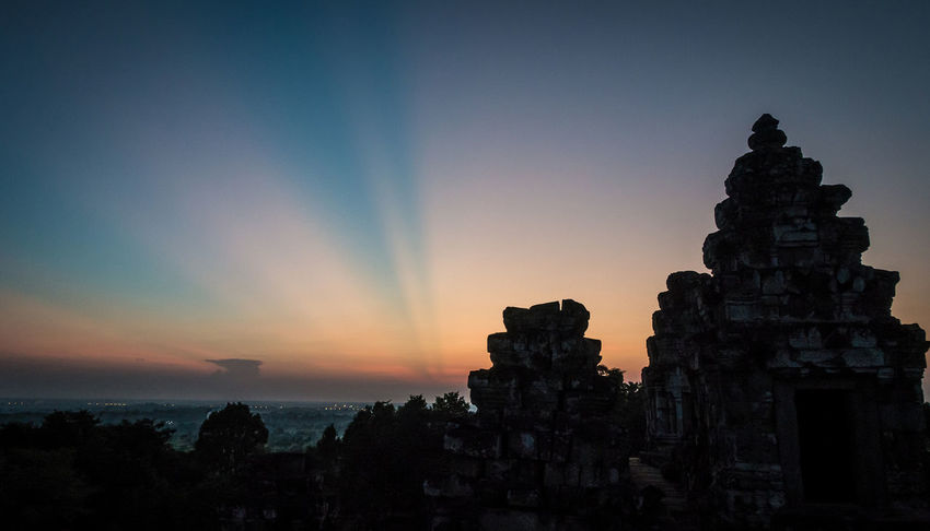Sunset over Siem Reap. October 2015, (c) Julie Gatto Ancient Civilization Angkor Wat Aroundtheworld ASIA Beauty In Nature Cambodia Famous Place History Idyllic International Landmark Julie Gatto Landscape Light Siem Reap Sky Sony Rx100 M3 Spirituality Sunset Tranquil Scene Tranquility Travel Travel Photography The Great Outdoors With Adobe