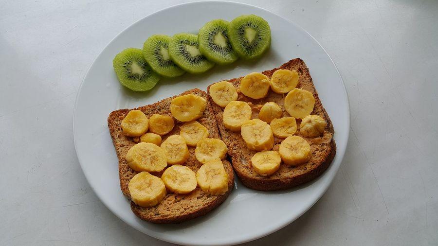 BananaPeanutButter Close-up Enjoying Life Food Foodporn Freshness Healtylife Indulgence Ready-to-eat Temptation Nofilter