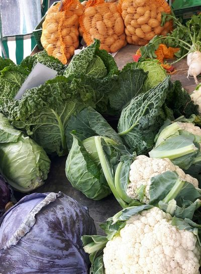 Close-up of fresh vegetables at market stall
