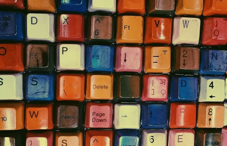 Computer Keyboard Colorful Intersting Different Random