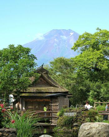 日本 Fuji 山梨県 忍野八海の富士山 富士山 世界遺産