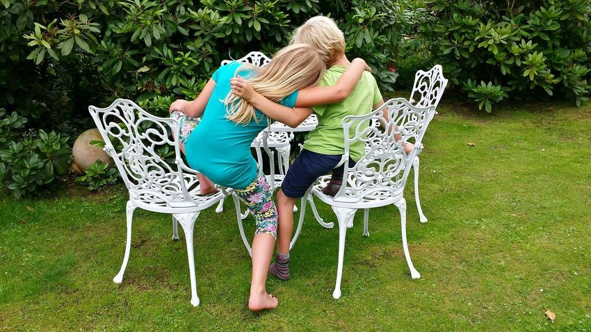Love My Grandchildren♥♡ they wanted to be potographed and the pic to get posted on eyeem ...💙😉 Family Time Girl And Boy Huggies Hugs Brother & Sister Nature On Your Doorstep Capture The Moment Photos That Will Restore Your Faith In Humanity Children Of The World Garden Furniture Metal Furniture White Furniture Ladyphotographerofthemonth Garden World Garden Photography Caring & Friendly  Caring For Each Other The Week On EyeEm Children Only Children Boy And Girl Kopf An Kopf