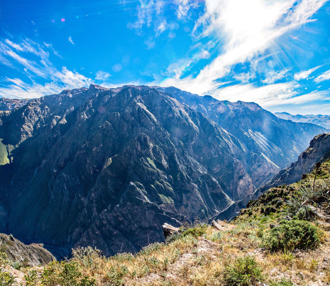 Amazing View Beautiful Nature Blue Sky Breathtaking Canyon Colca Canyon Landscape Panorama Peru South America Stunning Sun Travel Destinations Traveling The Great Outdoors - 2017 EyeEm Awards Iamnewhere EyeEmNewHere
