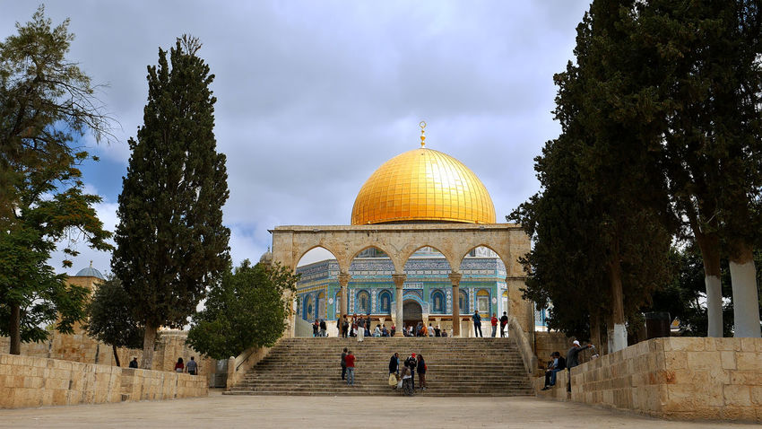 Architecture Building Exterior Built Structure Day Dome Dome Of The Rock Dome Of The Rock Jerusalem No People Outdoors Religion Sky Travel Destinations Tree An Eye For Travel The Architect - 2018 EyeEm Awards