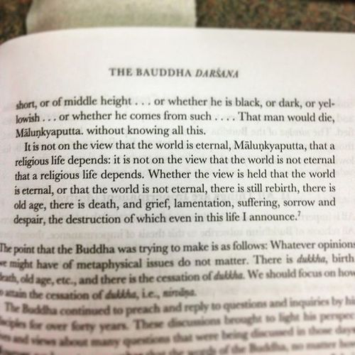 Buddha on Metaphysical things, on the Eternal things, and Religion . From his conversation with Malunkyaputta