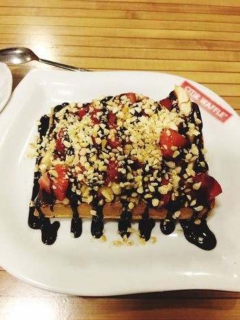 Food Waffle Eat Meal Day Freshness Fruit