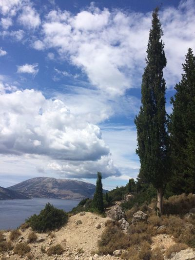 Cloud - Sky Sky Plant Beauty In Nature Mountain Tranquility Tree Tranquil Scene Scenics - Nature Nature Day No People Environment Non-urban Scene Landscape Growth Outdoors Land Mountain Range Idyllic Cefalonia Grecia Itaca Femalephotographerofthemonth 43GoldenMoments