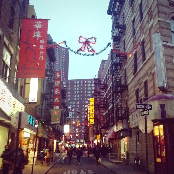Chinatown3 New York Chinatown City Street United States