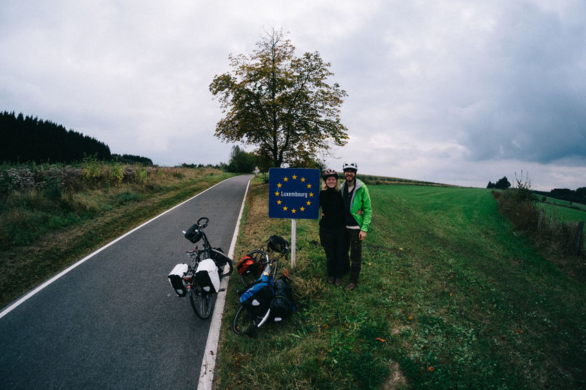 Bicycle Bicycles Bikes Border Bordercrossing Day Europe Luxembourg Outdoors