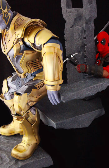 Deadpool Check This Out Thanos Inifintywars Marvel Hottoys Toyphotography Onesixthscale