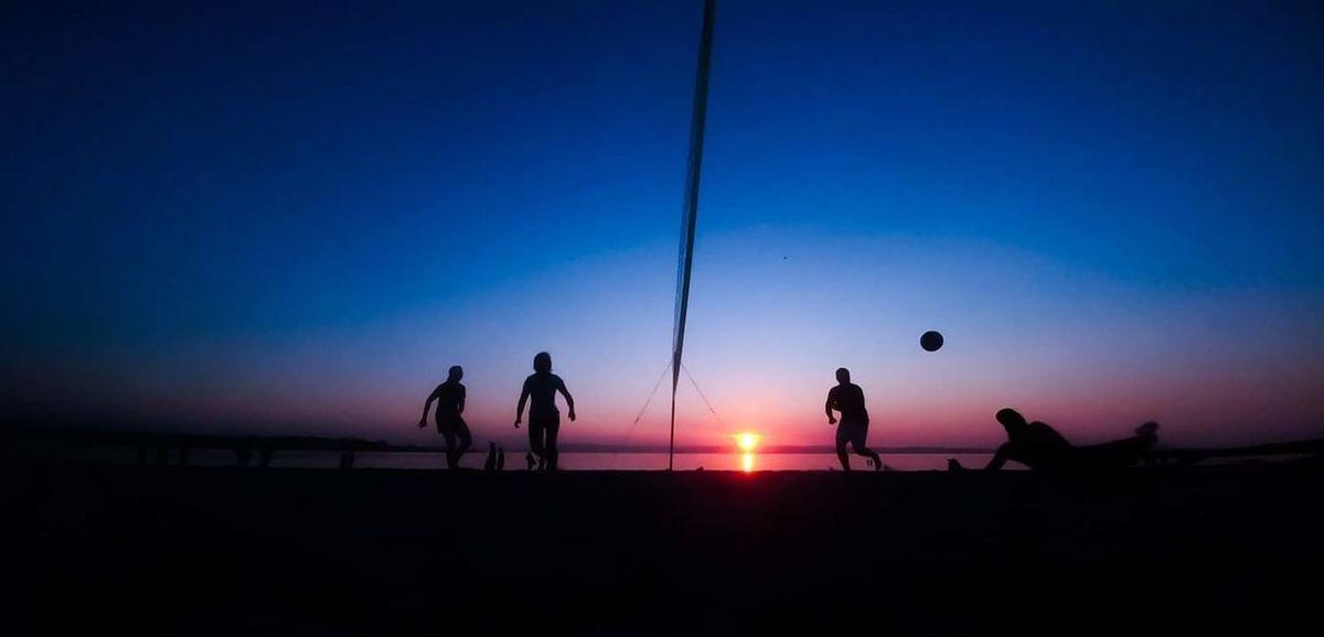 Silhouette Sunset Sky People Night Sand Outdoors Men Women Sand Dune Water Bay Bangor Northern Ireland Sea And Sky Seascape Beach Volleyball Beach Beach Photography Beach Life Net Ball Dive First Eyeem Photo