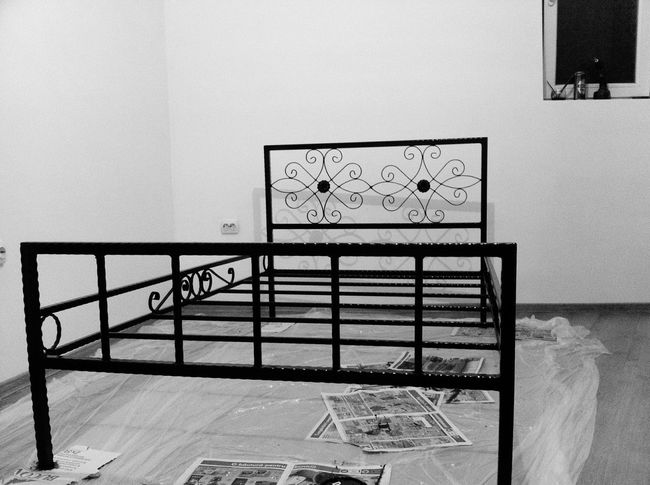 Handmade By Me Bed Work In Progress Black Paint