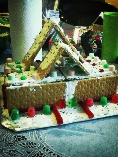 just finished making my Gingerbread House :p ha I was bored at the time so I decided to make one :b