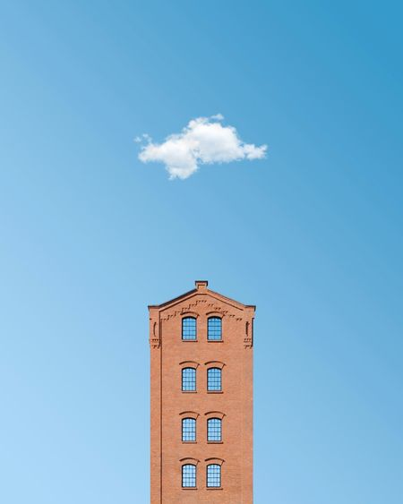 🔷🏛️🔷︱foretime Minimalist Architecture Minimal Exterior Symmetry EyeEm Best Shots EyeEmNewHere First Eyeem Photo EyeEm Selects Cloud Cloud - Sky Blue Sky Architecture_collection Windows Façade The Week on EyeEm Minimalism Brick Wall Architectural Column Blocks Symmetrical Clock Cityscape Clear Sky Sky Architecture Building Exterior Clock Tower Tower Tall