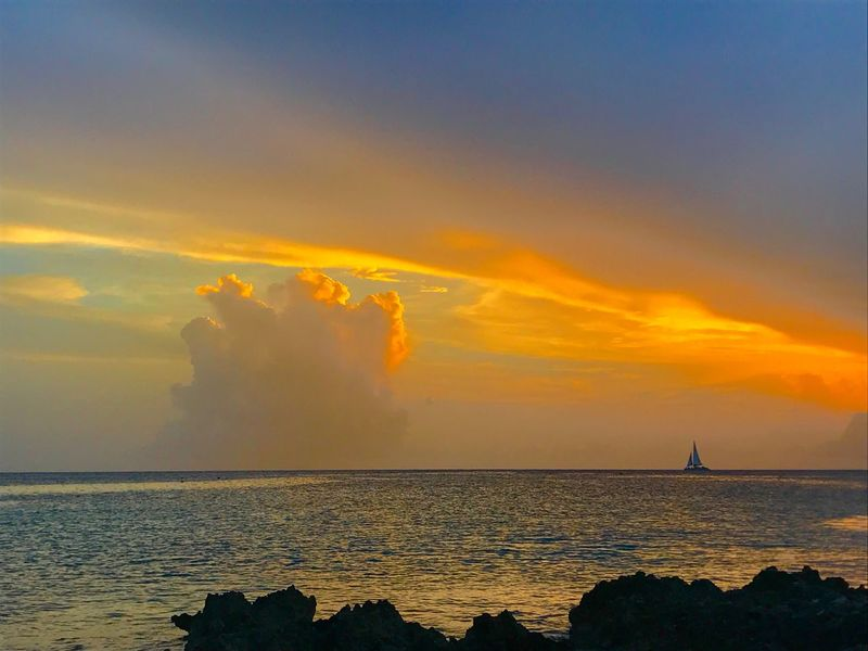 Sea Sunset Sky Scenics Nature Cloud - Sky Tranquility Waterfront The Great Outdoors - 2017 EyeEm Awards Caymanislands