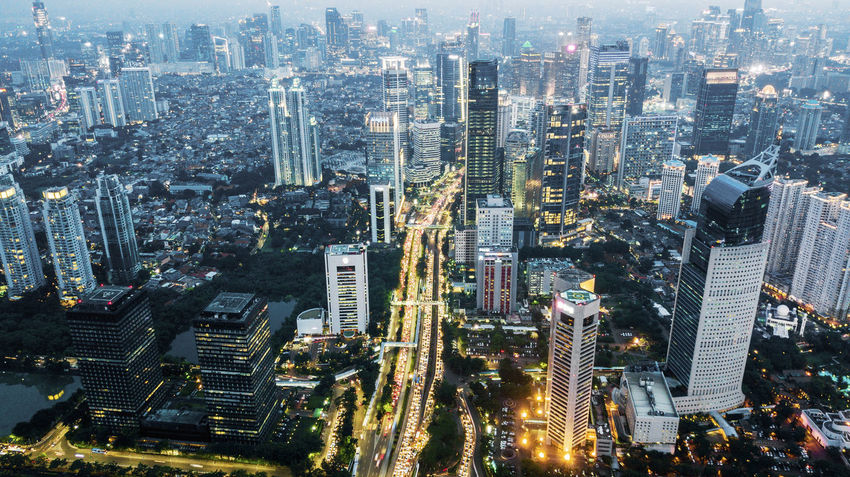 Jakarta Aerial View Architecture Building Building Exterior Built Structure City City Life Cityscape Crowd Crowded Downtown District Financial District  High Angle View Illuminated Landscape Modern Office Building Exterior Outdoors Residential District Skyscraper Tall - High Tower Urban Skyline