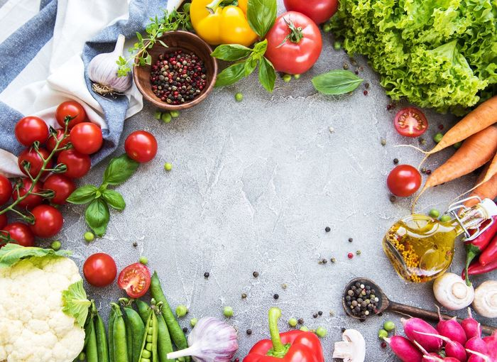 Fresh vegetables Olive Oil Healthy Eating Fruit Vegetable Food Food And Drink Tomato Freshness Raw Food Variation Cherry Tomato Ingredient Red Root Vegetable