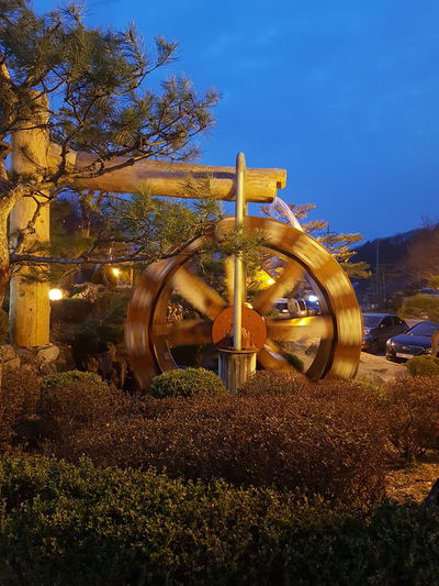 Come full circle Outdoors No People Evening Watermill Wheel Wagon Wheel Water Wheel Sky