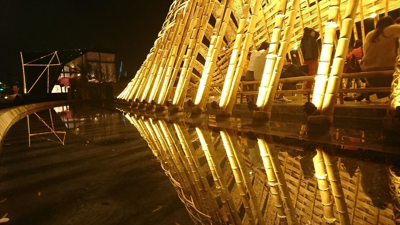 night, illuminated, reflection, architecture, water, built structure, building exterior, no people, nature, waterfront, building, transportation, city, outdoors, nautical vessel, sky, mode of transportation, lake, travel