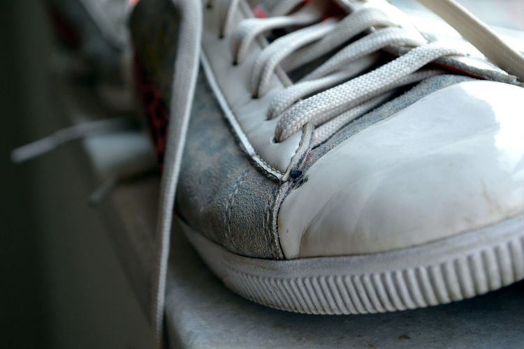 Close-up Focus On Foreground Gettingold No People Pastel Colors Selective Focus Shoelace Sneaker