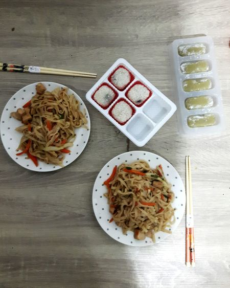 Chow Mein Moshi Food Plate Ready-to-eat Asianfood
