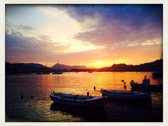 Poros Greece Sun Set