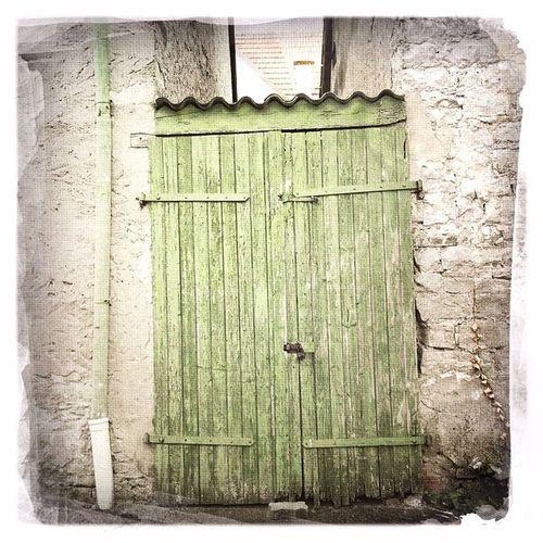 #green #door #sommerach #main #franken #germany