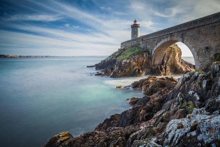 Brittany France Architecture Bridge Building Exterior Built Structure Cloud - Sky Lighthouse Marine Nature Nautical No People Phare Rock - Object Scenics Sea Seascape Travel Destinations Water