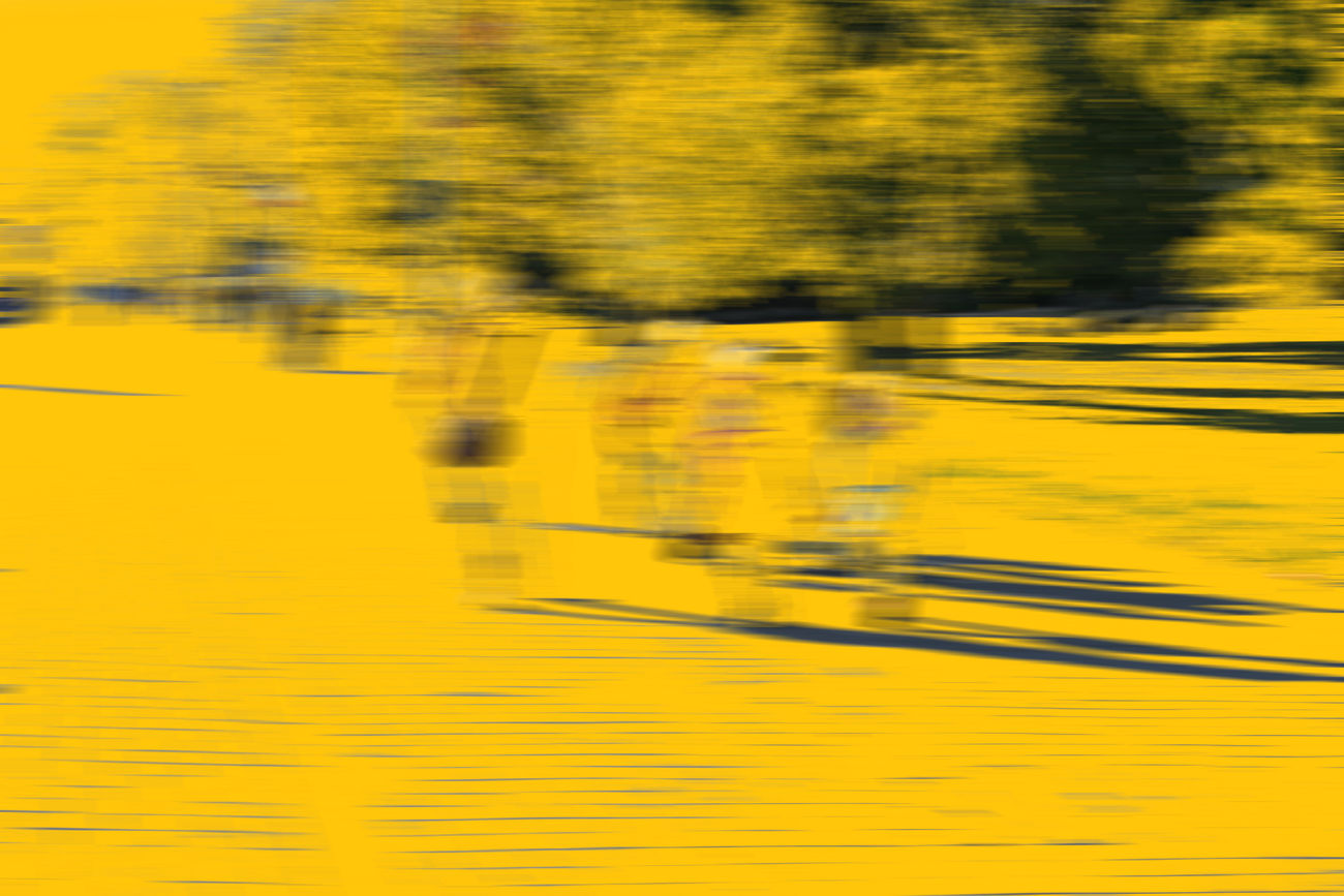 ArtWork Blurred Motion Children Day Light And Shadow Motion Outdoors Painting Speed Trees Yellow