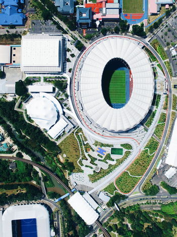 EyeEmNewHere Drone Photography Dji Dji Phantom Djiglobal Drone  Aerial View Aerialshot Aerial Photography Aerial Landscape Droneshot Malaysia Stadium Football Football Stadium Architecture Built Structure Building Exterior Arts Culture And Entertainment Day Outdoors Tree City