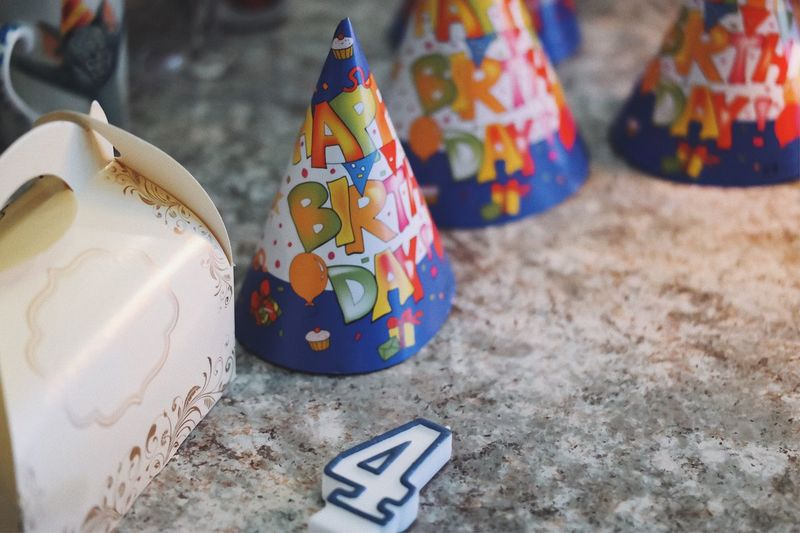 Birthday preparations 🎂... Cheerful Colorful Festive Candle Number Birthday Hat Hat Birthday Present Background Party - Social Event Party Event Words Letters Cap Birthday Art And Craft Multi Colored High Angle View No People Creativity Craft Pattern Still Life Focus On Foreground Celebration Shape Holiday Craft Product Floral Pattern